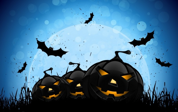 Halloween Creepy Pumpkins Bats (click to view)