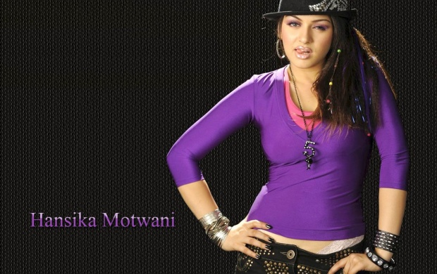 Hansika Purple Color T Shirt & Cap (click to view)