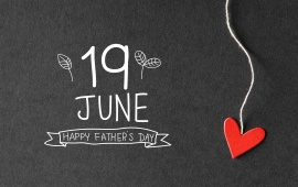 Happy Fathers Day And Red Heart