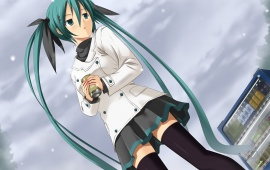 Hatsune Miku And Snow