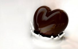 Heart Chocolate and Milk