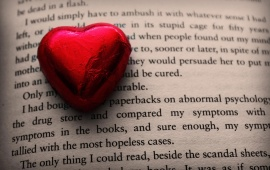 Heart On Book Letters