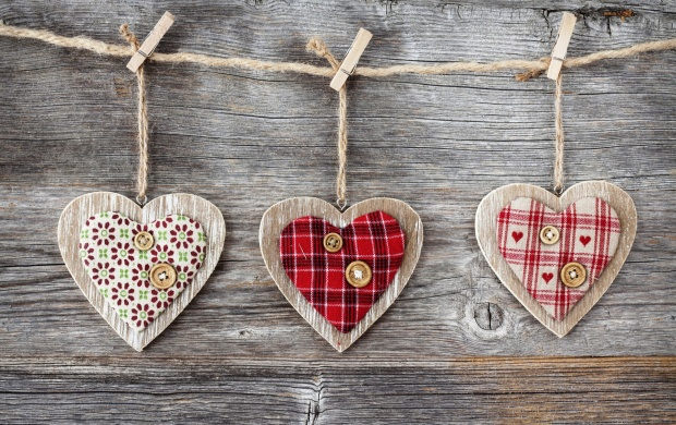 Heart Over A Wooden Background (click to view)