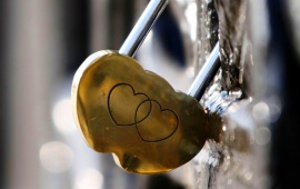 Heart Shaped Lock On Heart