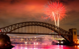 Hell Gate Bridge Fireworks