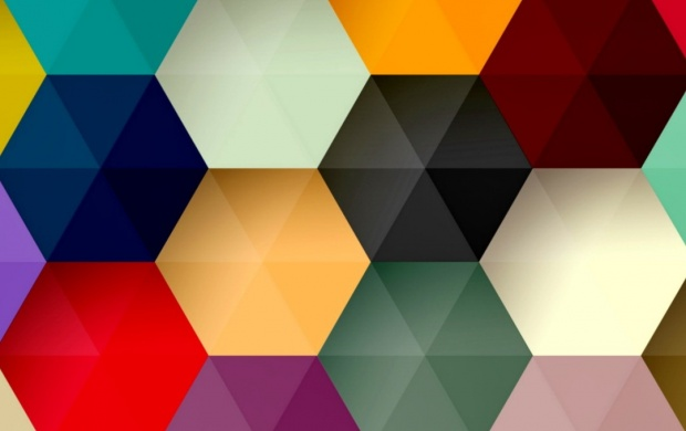 Hexagon Colorful Abstract (click to view)