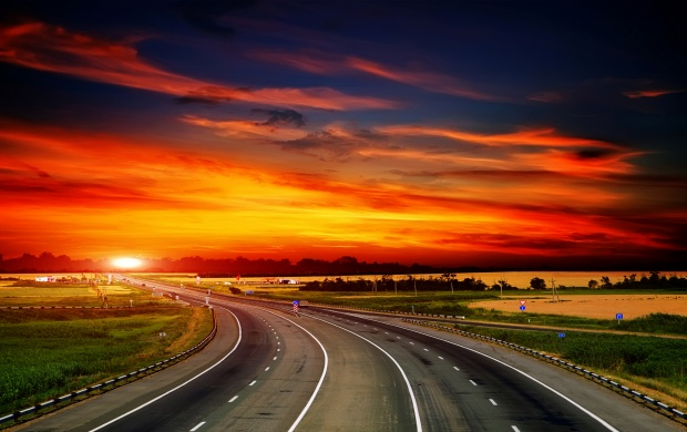 Highway At Sunset (click to view)