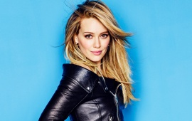 Hilary Duff In Black Jacket