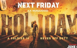 Holiday A Soldier Is Never Off Duty Poster