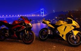 Honda CBR With Bridge