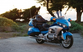 Honda Goldwing Blue Bike