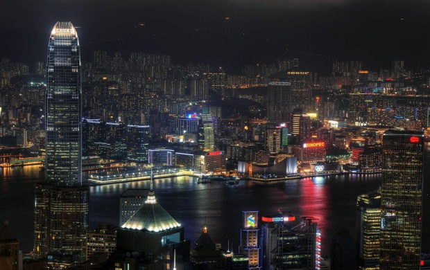 Hong Kong Panorama at Night (click to view)
