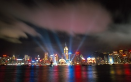 Hongkong River Laser View