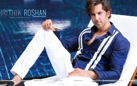 Hrithik Roshan In Blue Shirt