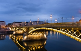 Hungary Bridges Rivers Budapest Margit
