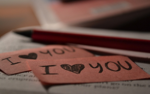 I Love You On Brown Paper (click to view)