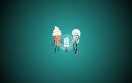 Ice Cream And Bulb Family