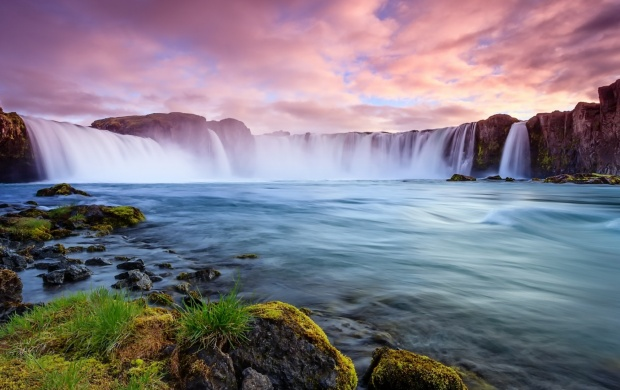 Iceland River Waterfall Rocks (click to view)