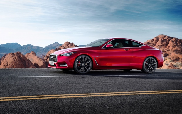 Infiniti Q60 Coupe Side 2017 (click to view)