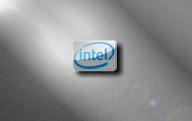 Intel Brushed Metal Chrome