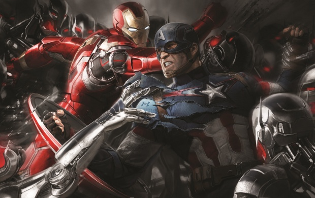 Iron Man And Captain America Art (click to view)
