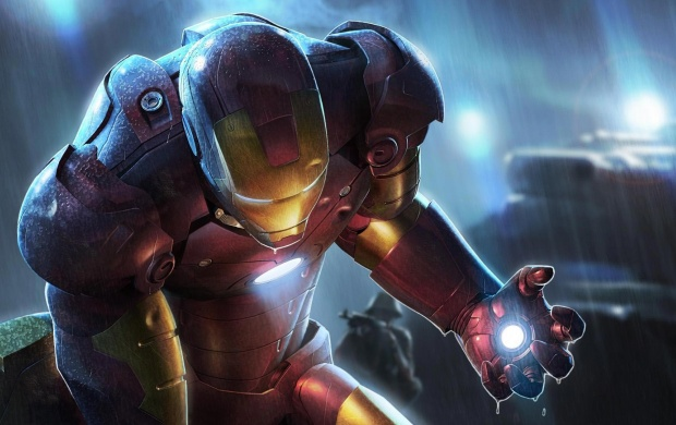 Iron Man in the Rain (click to view)