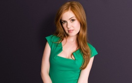 Isla Fisher Green Dress