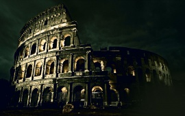 Italy Night Architecture Colosseum