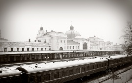 Ivano-Frankivsk Winter Railway Station