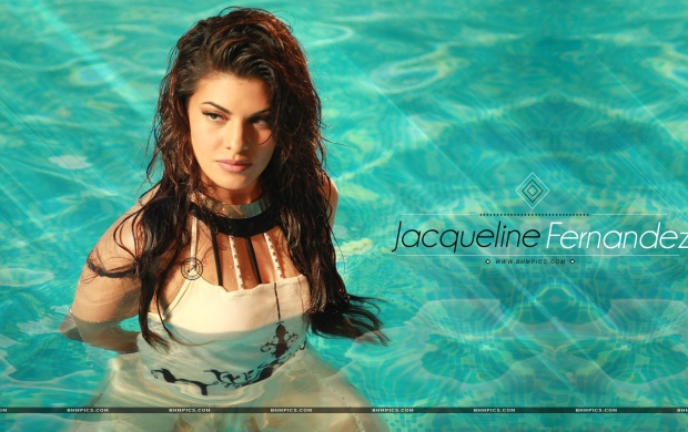 Jacqueline Fernandez Bathing (click to view)