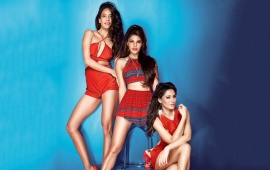 Jacqueline, Nargis And Lisa Haydon In Housefull 3