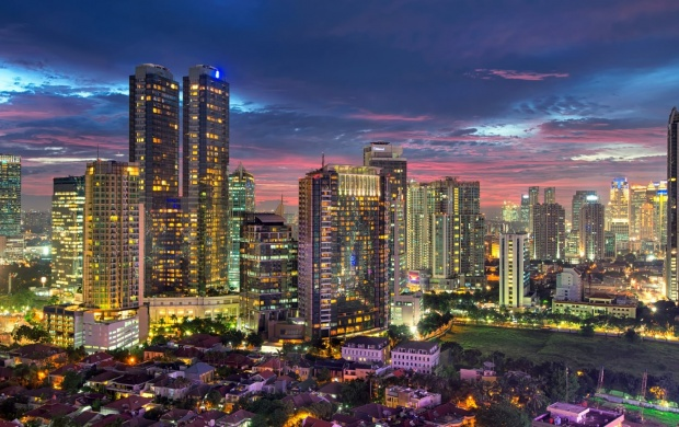 Jakarta City Evening (click to view)