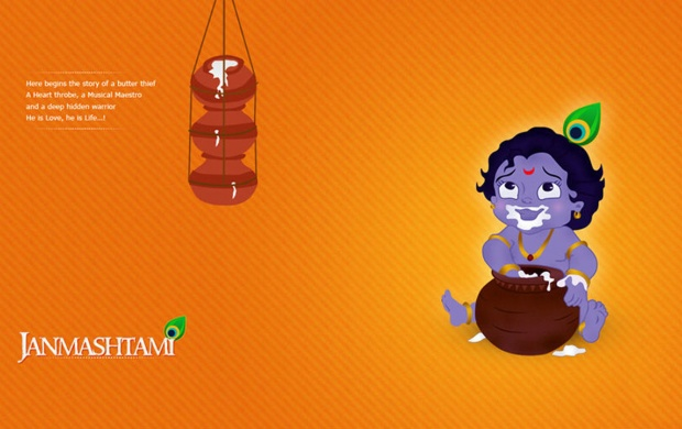 Janmashtami Cartoon Krishna (click to view)