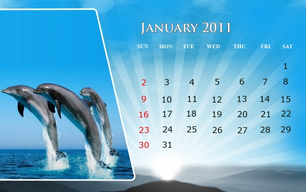 January-2011 Fish Design Calendar (click to view)
