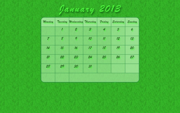 January Calendar 2013 (click to view)