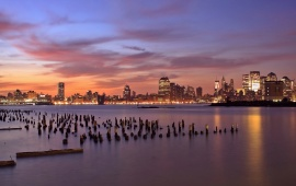 Jersey City Sunset Light