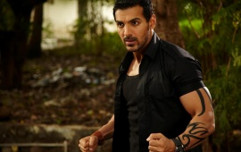 John Abraham In Black Shirt