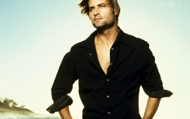 Josh Holloway In Black Shirt