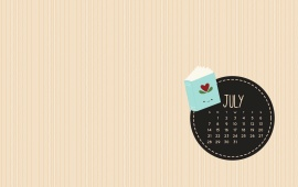 July Is For Books Calendar