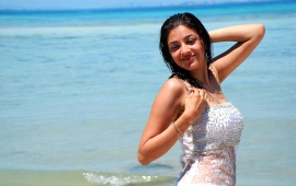 Kajal Agarwal In White Dress