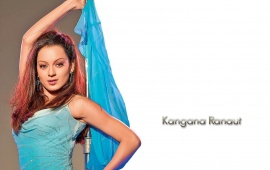 Kangana Ranaut In Blue Dress