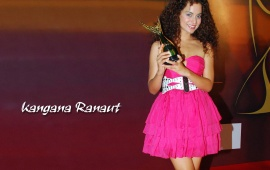 Kangana Ranaut In Pink Dress