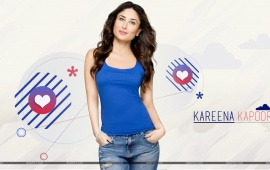 Kareena Kapoor In Blue Shirt