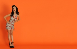Katy Perry Orange Background