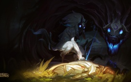 Kindred Splash Art League Of Legends