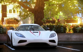 Koenigsegg Agera White Car