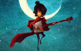Kubo And The Two Strings Playing Guitar