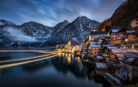 Lake Hallstatt Alps Austria