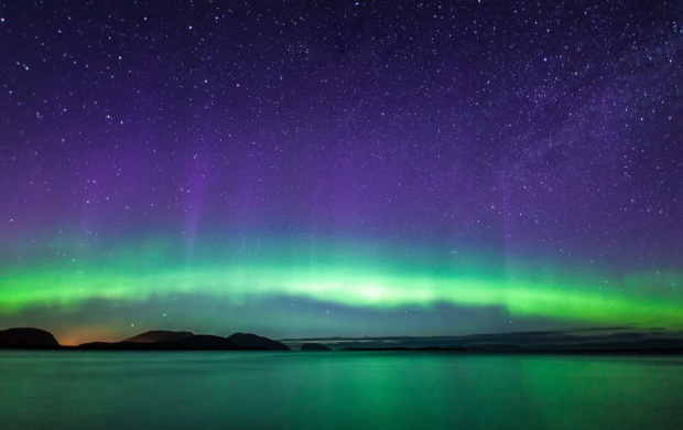Lake Northern Lights Sky Stars (click to view)