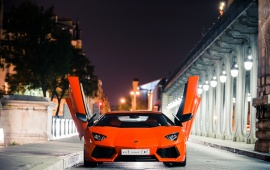 Lamborghini At City Night